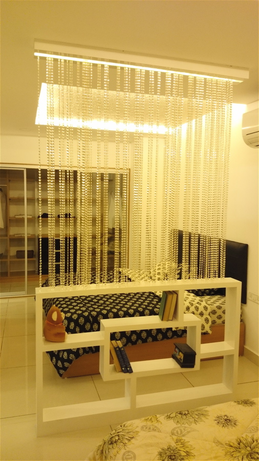 bead curtain, bead screen, room divider, customized interiors